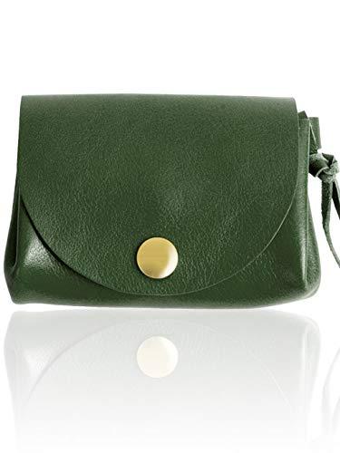 d95f53fd7a22 Amazon | MIRACOLO イタリアンレザー 本革 ミニ財布 ダブルフラップボタン 小さい財布 レディース かわいい カード 小銭入れ  グリーン | MIRACOLO | 財布