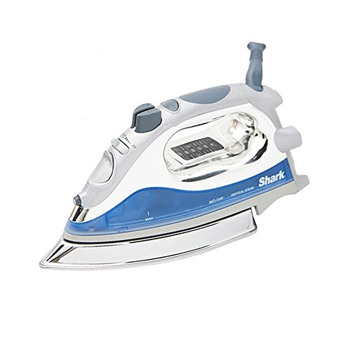 Shark Powerful Lightweight Professional Steam Iron auto-Off with Cord with 8.5in Premium Stainless Steel Sole Plate and 1500 watts, Blue - GI468NN (Renewed)...