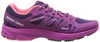 Salomon Women's Sonic Aero W Running Shoe, Cosmic Purpleazalee Pinkmadder Pink, 9 B Us 5