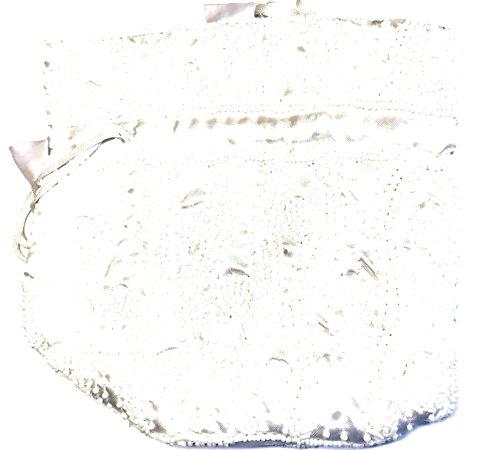Beaded Wedding Pouch Purse Handmade Drawstring White Party Bag Potli Indian qxOqwXr4v
