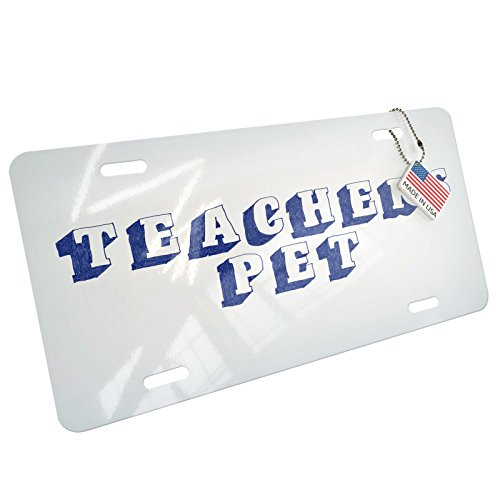 NEONBLOND Teachers Pet Blue Pen Ink Doodle Aluminum License Plate