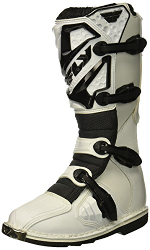 - Fly Racing Unisex-Adult Maverick Mix Boots (White, Size 8)