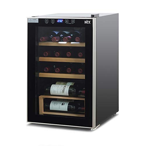 Thermostat Constant Temperature Wine Cooler Home Small Wine Refrigerator Air-Cooled Frost-Free Refrigerated Cigar Cabinet Wine Cooler (Color : Black, Size : 434670cm)