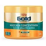Gold Máscara Concentrada Óleo de Argan Pós Química, 430G, Niely