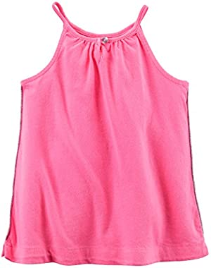 Girl's Pink Neon Tank Top 9 (Months)