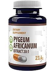 Pygeum Africanum 20000mg Equivalent (100mg av 20:1 extrakt) 90 Veganska kapslar, standardiserad till 13% fytosteroler, hög styrka, Gluten, GMO-fri