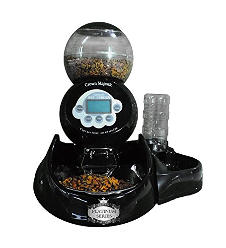 - Crown Majestic Platinum Series Dog and Cat Automatic Pet Feeder