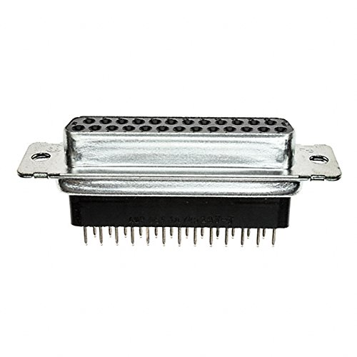 (Straight Solder Pin DB-25 Type Female Panel Mount)