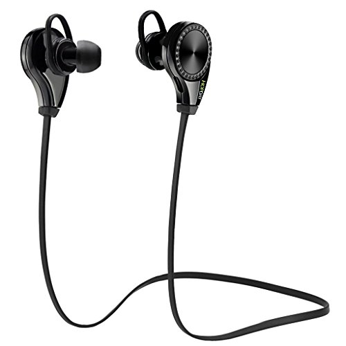 Price comparison product image Bluetooth Headphones, HOPDAY Wireless Earbuds Sports Running Earphones with Built-in Mic, Noise Cancelling Stereo Sound Sweatproof Workout Headsets Play Up to 7 Hours, Black