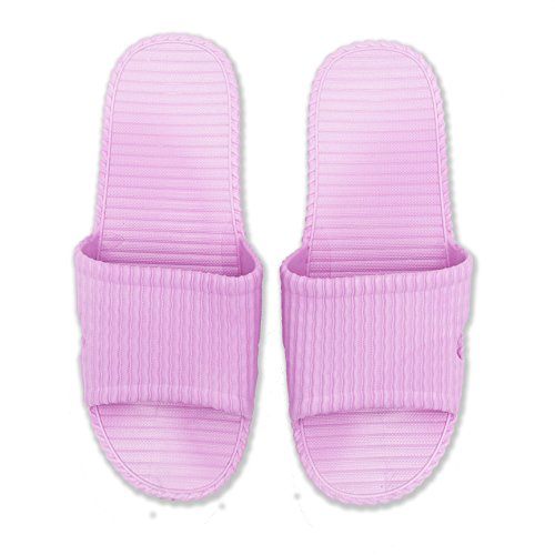 Momo Promos Anti-Slip Bath Slipper Indoor Floor Slipper Unisex (40-41, Purple)