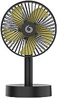 卓上扇風機 タイマー機能&自動首振りミニ扇風機 充電式 扇風機 5枚根羽 超静音 超強風力 風量3段階調節 4段階タイマー設定可 ミニ扇風機 長時間連続使用 節電/省エネ 節電対策 熱中症対策 自宅/オフイス用 日本語取扱説明書付