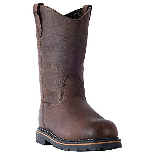 (MCRAE Men's Mid Calf Boot Brown-1 6.5 M US)