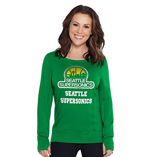 no NBA Seattle Supersonics Lateral Sweatshirt, Small, Green ()