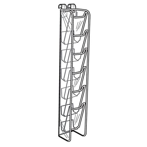 Acrylic 6 Pocket Brochure Holder For Gridwall Panels - Holds 4'' x 9'' Brochures by The Competitive Store