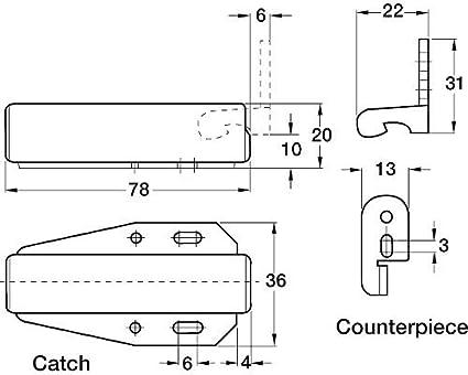 Loft Catch Hatch Push Attic Cupboard Latch Press Lock Cabinet Panel Black Boat Parts & Accessories Automobiles & Motorcycles