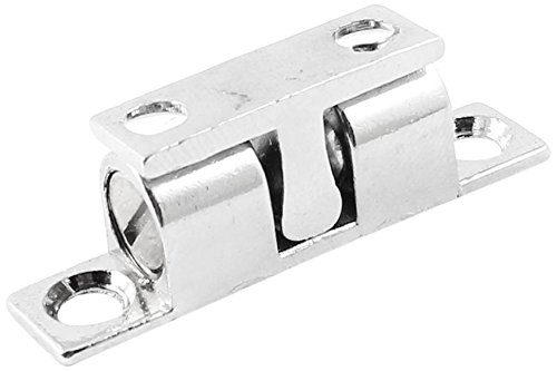 Sourcingmap a14032500ux0169 40 mm-Longueur : en alliage de Zinc pour porte Loquet Double loqueteau à billes argenté