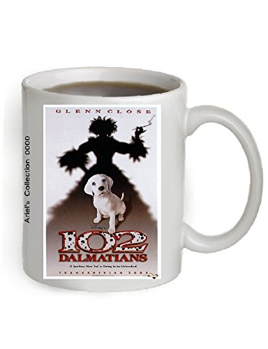 102 Dalmatians Movie Poster Coffee Mug 11 OZ. (The Poster is printed on both sides of the Mug).