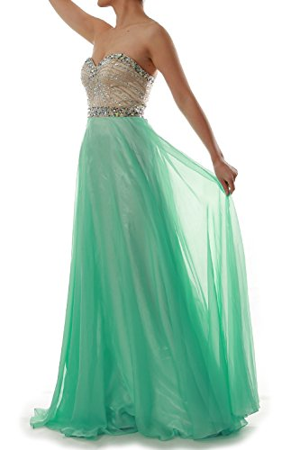 Dress Plus Fancy Size 90s (MACloth Women Strapless Chiffon Long Prom Dress Wedding Party Formal Gown (2,)