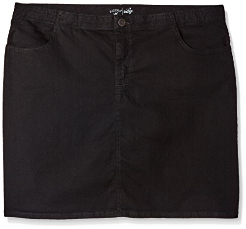 Riders by Lee Indigo Women's Plus Size Comfort Collection Denim Skirt, Black, (24w Skirt)