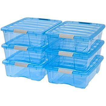 IRIS 26 Quart Stack & Pull Box, 6 Pack