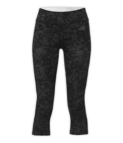 The North Face Women's Pulse Capri Tights XLarge Regular Black Tonal GEM Party Print