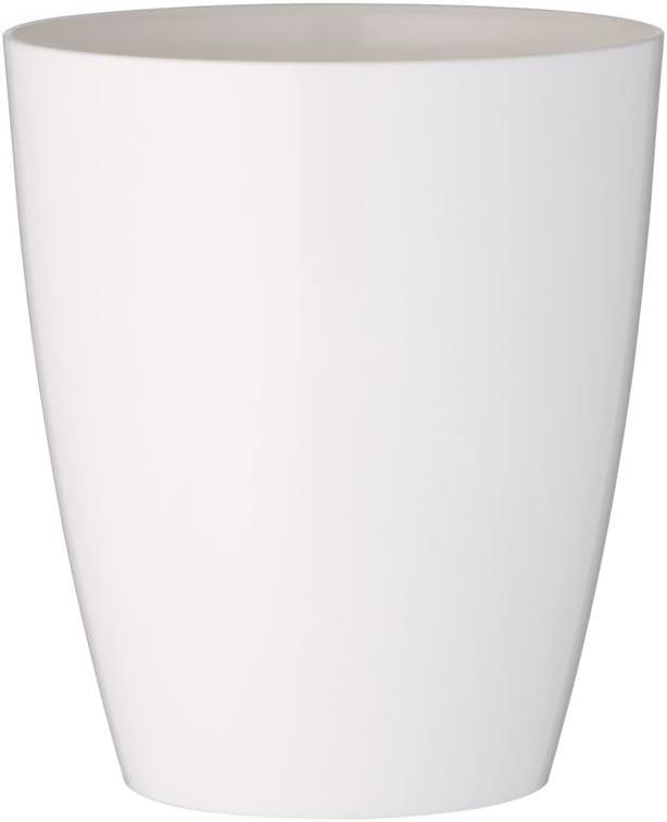 maceta de orquídeas greemotion Ornella, maceta blanca, maceta para orquídeas de plástico, cubeta para flores Dimensiones: aprox. Ø 13 x H 15 cm