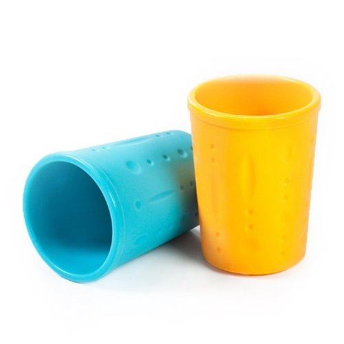 Kinderville Little Bites Cups (Set of 2, Blue / Orange)