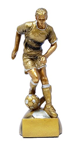 Decade Awards ⚽ Soccer Goldstar Trophy - Male ⚽ Futbol Award | 8 Inch Tall - Free Engraved Plate on Request