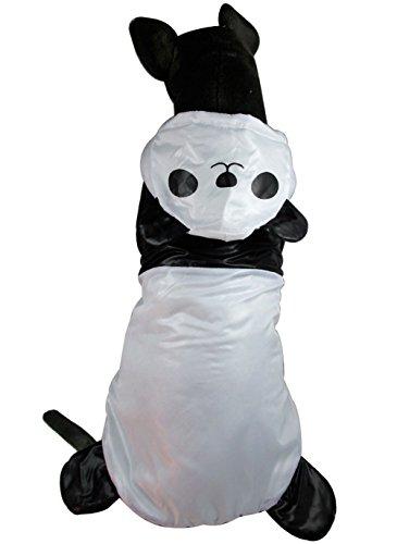 Zunea Padded Large Dog Winter Coat Waterproof,Medium Dog Jacket with Hood Warm Windproof Dog Panda Costume Halloween Dog Parka Dog Trench Dog Windbreaker Clothes Apparel -