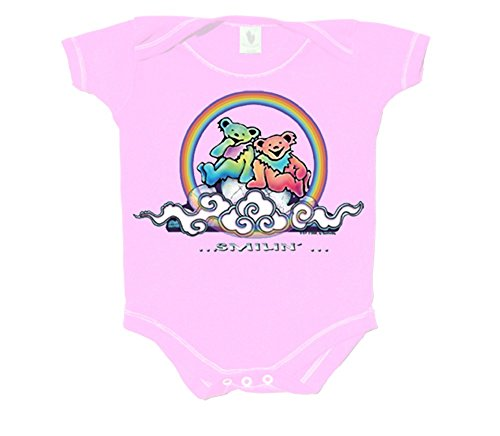 Licensed Grateful Dead Bears on a Cloud Pink One Piece by Dye The Sky (6-12)