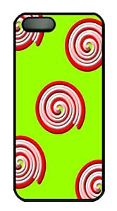 IMARTCASE iPhone 5S Case, Candy Swirl Pattern Design PC Black Hard Case Cover for Apple iPhone 5s/5