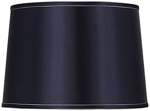 Sydnee Navy with Silver Trim Drum Shade 14x16x11 (Spider) - Brentwood