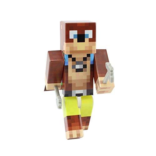 [Bear Miner Action Figure Toy, 4 Inch Custom Series Figurines by EnderToys] (One Up Mushroom Costume)