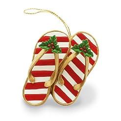 Beach Themed Christmas Ornaments Island Heritage Festive Slippers Ornament beach themed christmas ornaments