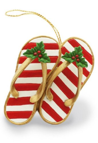 Island Heritage Festive Slippers Ornament by Island Heritage