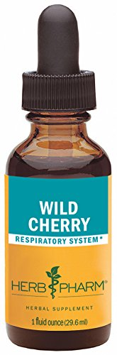 Herb Pharm Certified Organic Wild Cherry Bark Extract for Respiratory Support - 1 Ounce