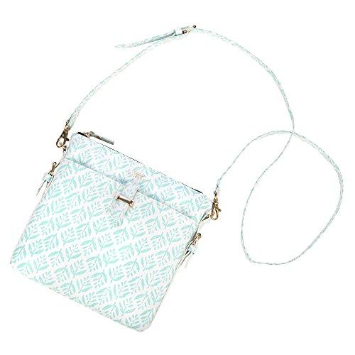 SCOUT Taylor Crossbody Bag, Faux Textured Leather, Interior Zipper Pocket, Versatile Strap, Zips Closed, Aqua Fresca
