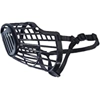 Guardian Gear Basket Muzzles — Durable and Humane Plastic Muzzles for Dogs - Large, Black