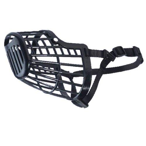 Guardian Gear Flexible Plastic Dog Basket Muzzle Large, Black (Greyhound Muzzle Basket)