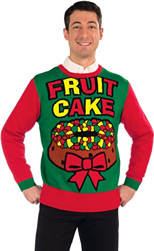 Forum Novelties Men's Fruit Cake Novelty Christmas Sweater,
