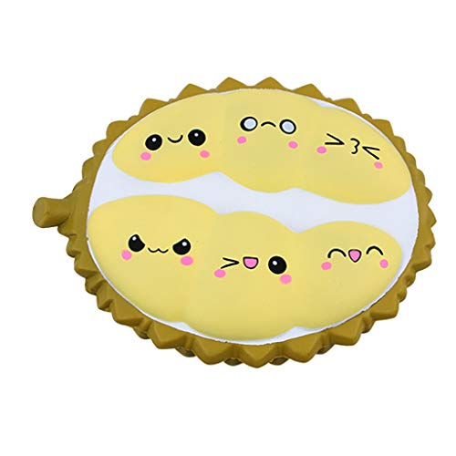 Gbell  New Durian Pattern Simulation Slow Rebound Decompression Educational Toy with Cream Scented Cute Reliever Anxiety Healing Toy Lovely Party Decoration Best Birthday Gifts for -