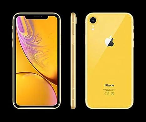 Apple iPhone XR, 64GB, Yellow - Fully Unlocked (Renewed)