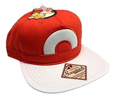Pokemon Ball Ash Ketchum Satoshi Snapback Baseball Hat Adjustable Orange Cap