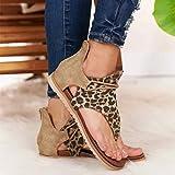 Leopard Flip Flop for Women Gladiator Sandals