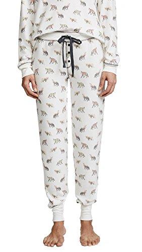 PJ Salvage Women's Fox Lounge PJ Pants, Natural, Small Salvage Womens Pajama