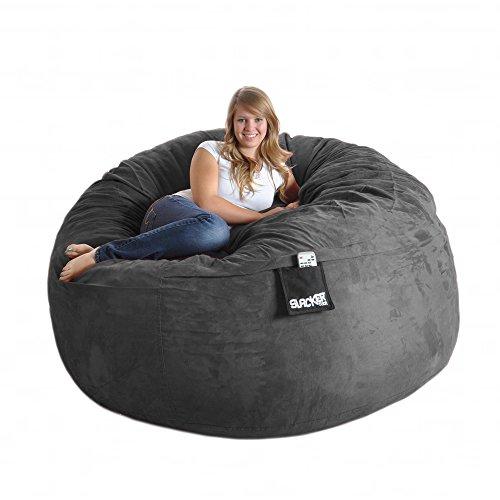 41qvOQ9DCPL - SLACKER sack 6-Feet Foam Microsuede Beanbag Chair