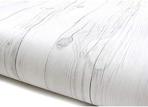 DIY リフォームシール 壁紙 ホワイトパネルウッド 白木目 約50cm巾×3m巻 [並行輸入品]