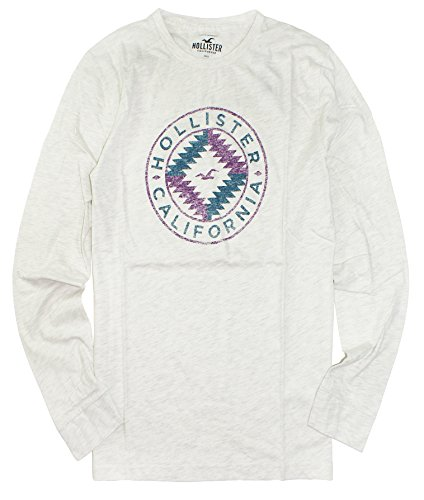 Hollister Collection (Hollister Men's Long Sleeve Graphic T-Shirt HOM-7 (Large, 132 Oatmeal))