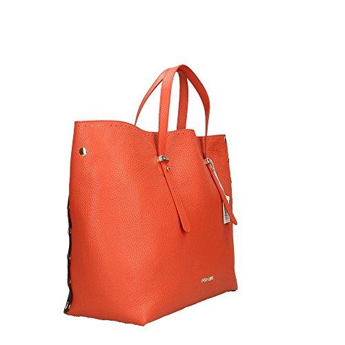 véritable POP Corail Bags Italy Noir main Corail femme Cm Impression in Made à en cuir Dollar 34x31x15 Sac Zr0gwrvqC