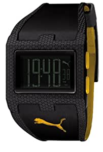PUMA Unisex PU910361004 Flux-M Black and Yellow Digital Watch